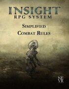 Insight RPG System: Simplified Combat Rules