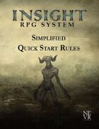 Insight RPG System: Simplified Quick Start Rules