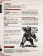 Aetaltis Bestiary Collection - Owlbear
