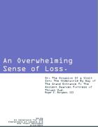 ZH-01 An Overwhelming Sense of Loss