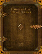 Hawaiian First Names Bundle [BUNDLE]
