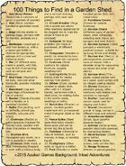 100 Things to Find in a Garden Shed