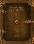 Breton First Names Bundle [BUNDLE]