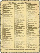 100 Male Luchador Names