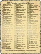 100 Female Luchadora Names