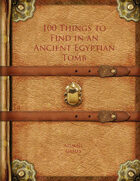 100 Things to Find in an Ancient Egyptian Tomb