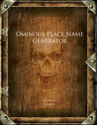 Ominous Place Name Generator
