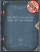 100 NPCs You Might Meet At The Tavern