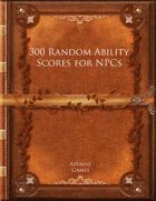 300 Random Ability Scores for NPCs