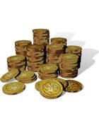 Colour Filler Art - Gold Coin Stacks
