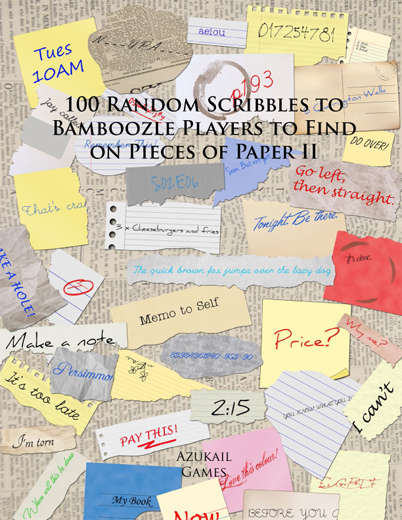 100 Random Scribbles to Bamboozle Players to Find on Pieces of Paper II
