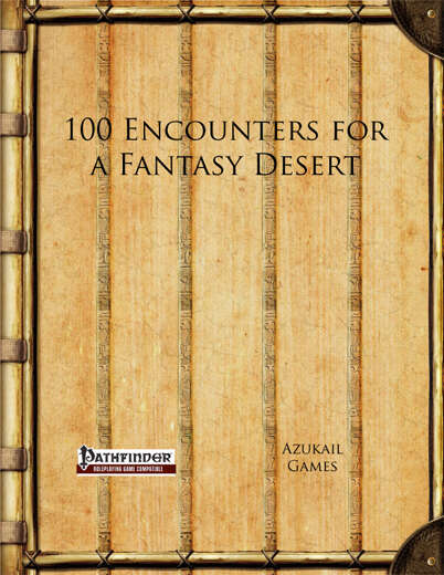 100 Encounters for a Fantasy Desert (PFRPG)