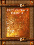 100 Descriptions for Rings