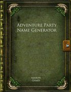 Adventure Party Name Generator