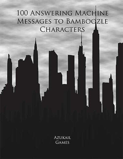 100 Answering Machine Messages to Bamboozle Characters