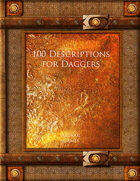 100 Descriptions for Daggers