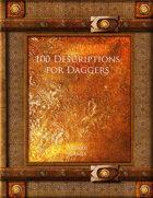 100 Descriptions for Daggers