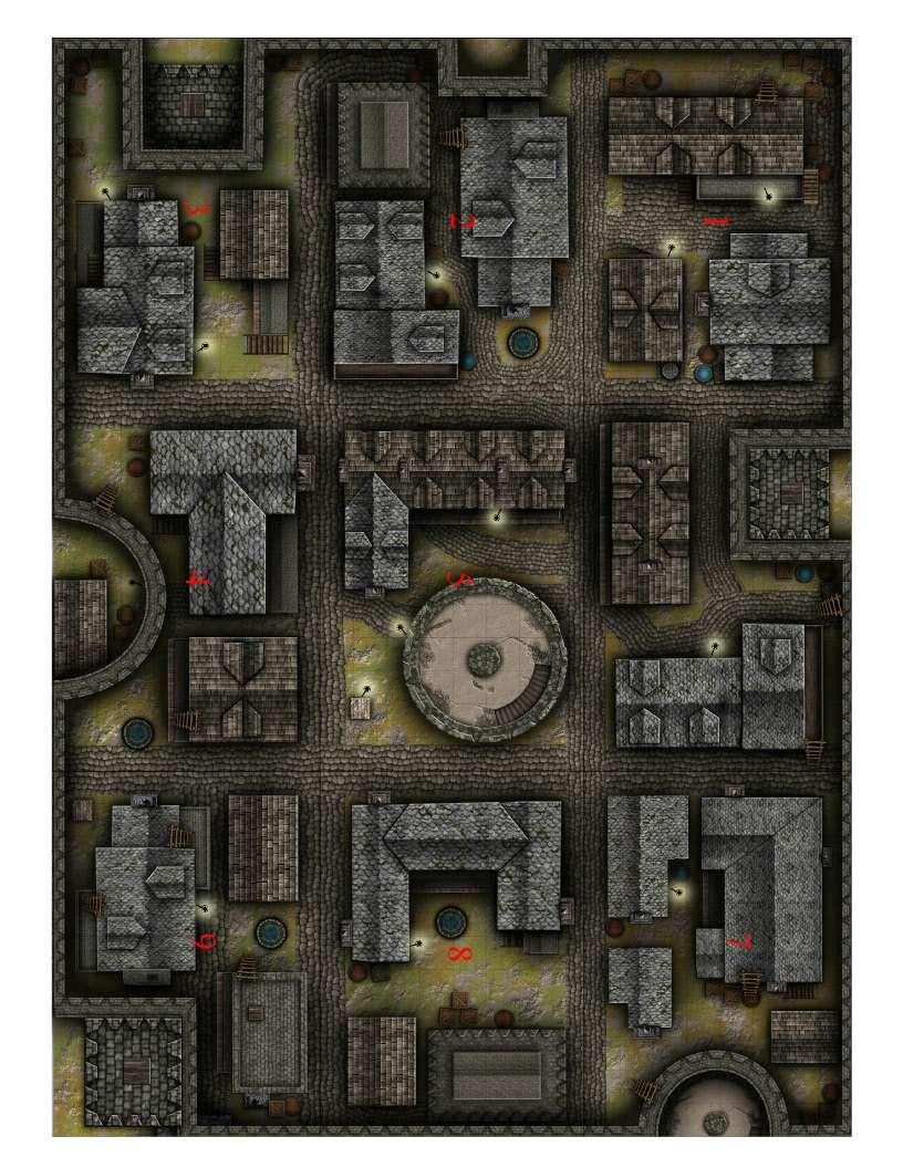 Alleyways Battlemap