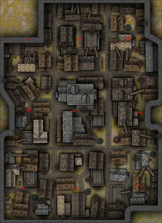 Rooftops Battlemap Spqr Games Drivethrurpg Com