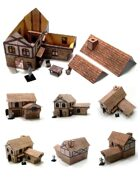 """3D"" Fantasy Village House Terrain with Full Interior"