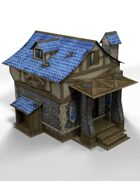 """3D"" A Fantasy Tavern 28mm Papercraft Wargaming Terrain Model"