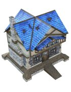 """3D"" A Fantasy Village House 28mm Papercraft Wargaming Terrain Model"