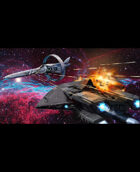 Stock Art: Nebula Space Battle
