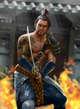 Thunderegg Stock Art: Blue Samurai Warrior
