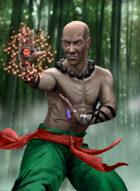 Thunderegg Stock Art: Martial Artist Ki Fighter
