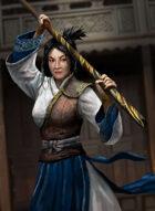 Thunderegg Stock Art: Staff Wielding Samurai