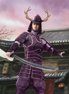 Thunderegg Stock Art: Purple Samurai Warrior