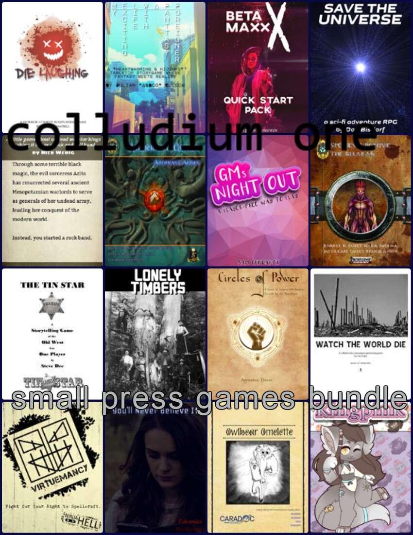 Colludium One: small press games [BUNDLE] - Blue Golem Publishing |  DriveThruRPG com