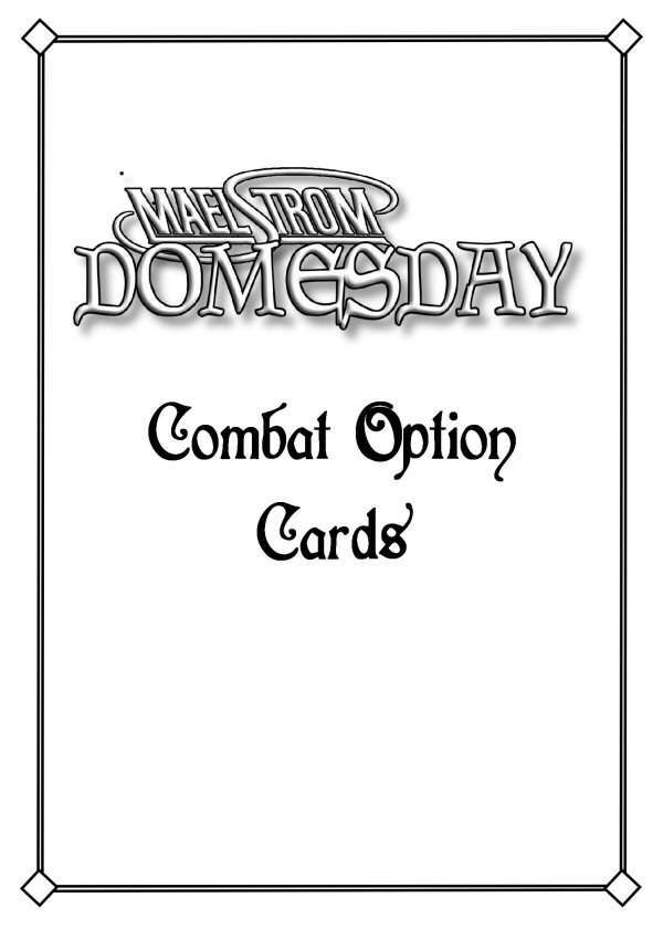 Maelstrom Domesday Combat Option Cards