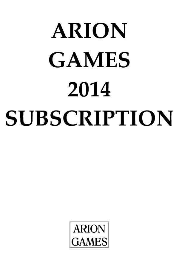 Arion Games 2014 Paper Mini Subscription