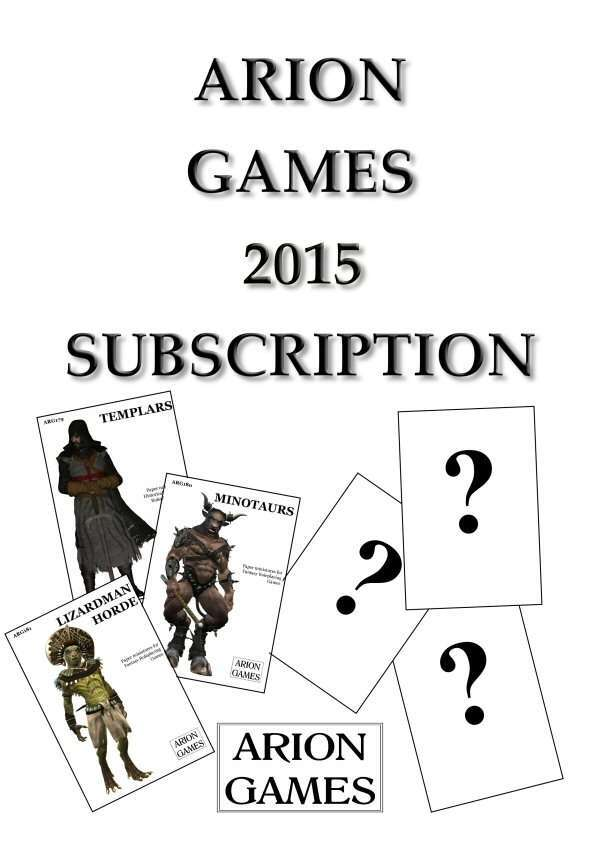 Arion Games 2015 Paper Mini Subscription