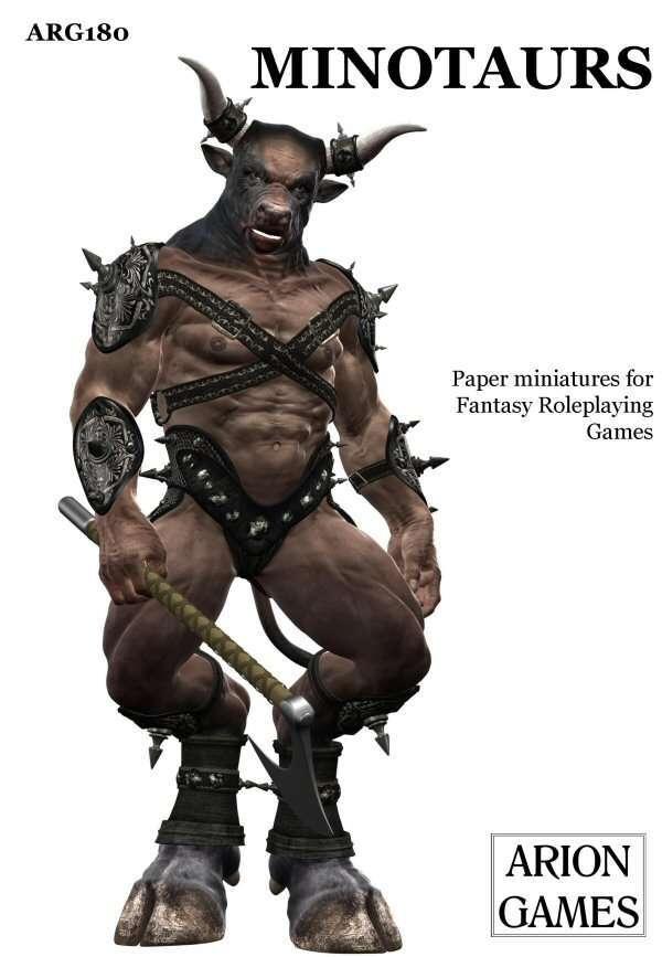 Minotaurs Set Arion Games Fantasy Sets Drivethrurpg Com