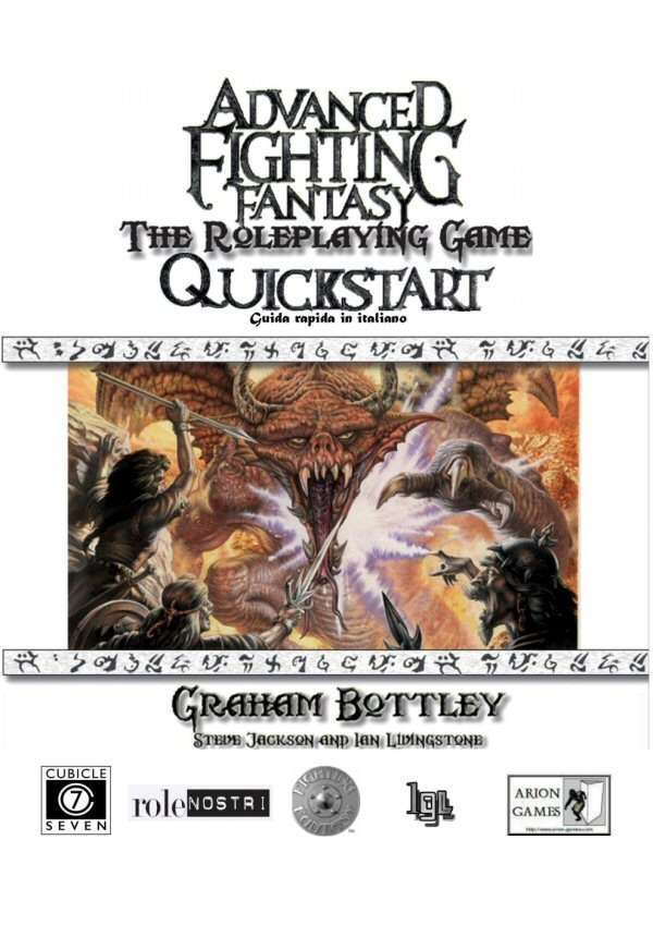 Advanced Fighting Fantasy Guida Rapida