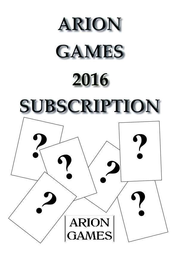 Arion Games 2016 Paper Mini Subscription
