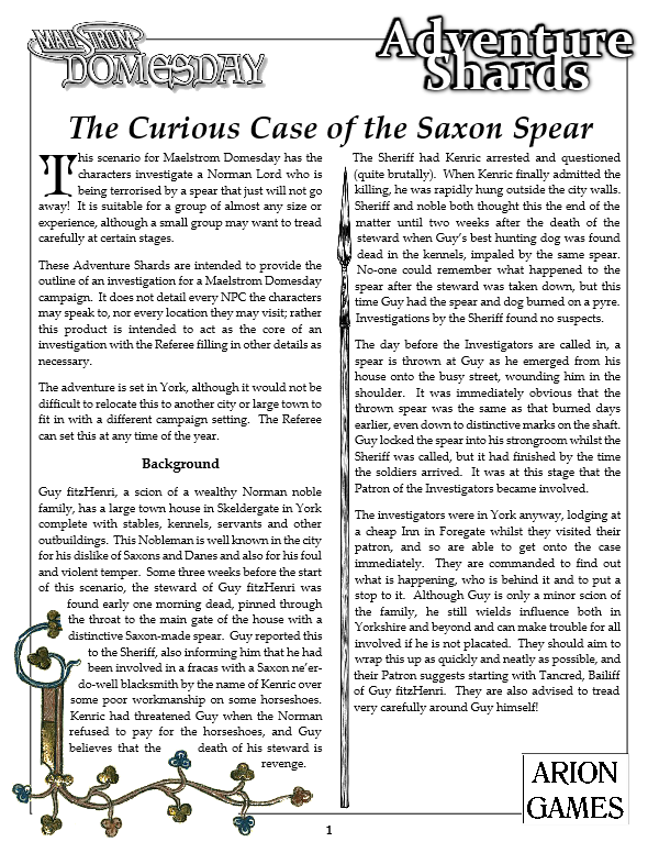 The Curious Case of the Saxon Spear