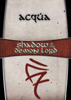 Shadow of the Demon Lord: Carte Magia ACQUA