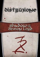 Shadow of the Demon Lord: Carte Magia DISTRUZIONE