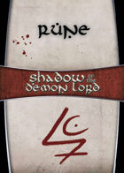 Shadow of the Demon Lord: Carte Magia RUNE