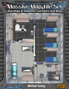 Massive Map Tile Set: Starships & Stations Corridors and Bays