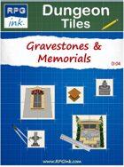 Dungeon Tiles - D04 - Gravestones & Memorials