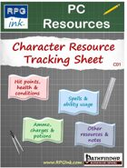 Player Resources - C01 - Character Resource Tracking Sheet