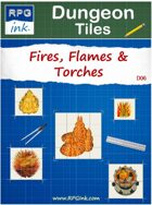 Dungeon Tiles - D06 - Fire, Flames & Torches