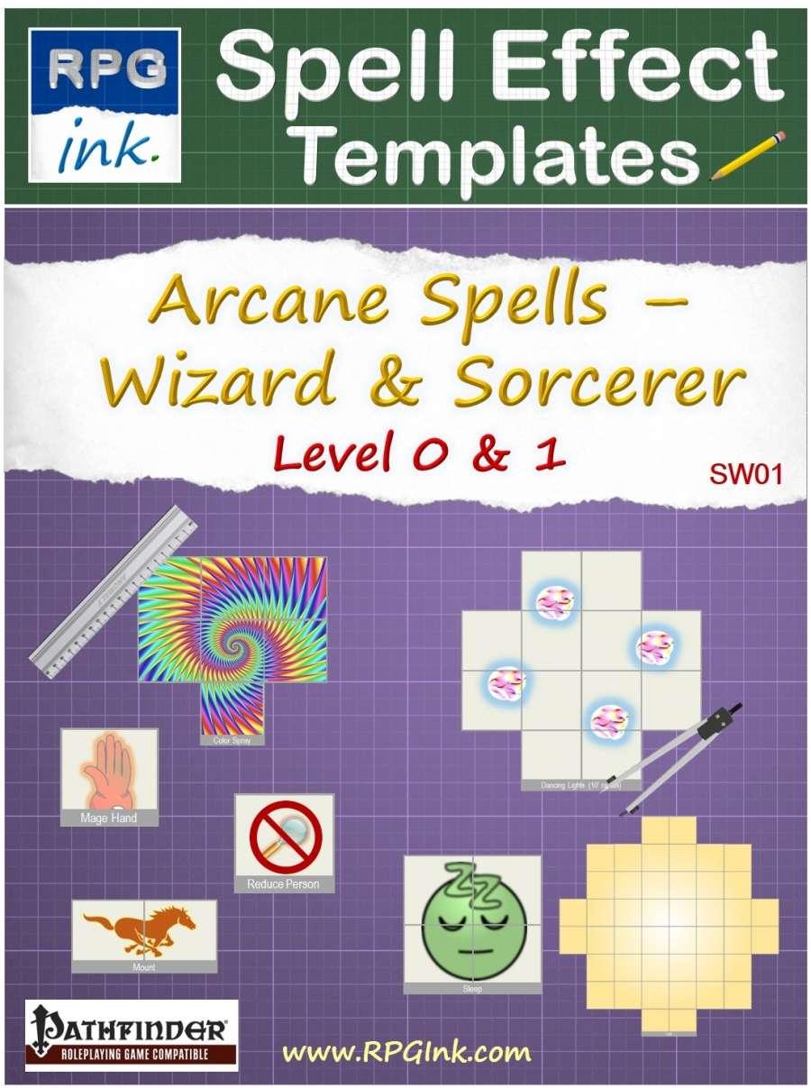 Arcane Spell Effect Templates - SW01 - Wizard & Sorcerer Spells ...