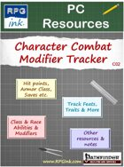 Player Resources - C02 - Character Combat Modifier Tracking Sheet