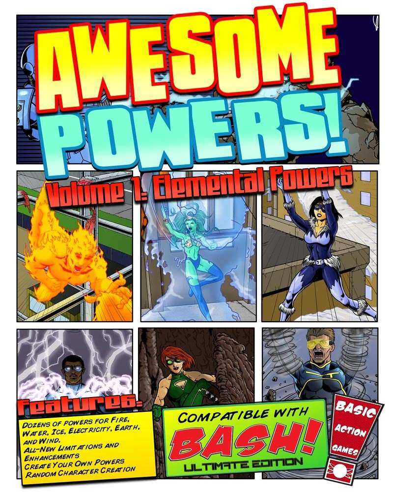awesome powers vol 1 elemental powers basic action games