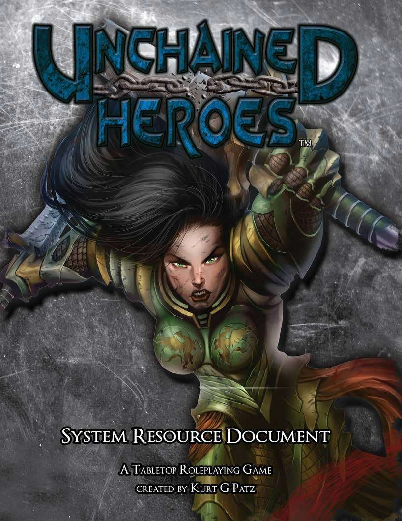unchained heroes system resource document chronos publishing